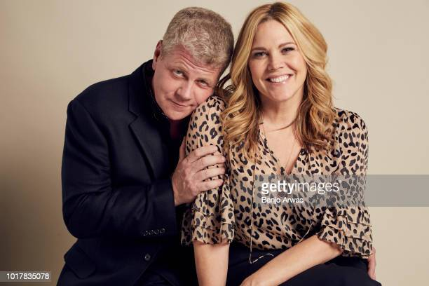 Mary McCormack and Michael Cudlitz of ABC's 'The Kids Are Alright' pose for a portrait during the 2018 Summer Television Critics Association Press...