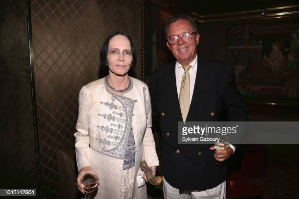 Mary McFadden and Gregory Speck attend David Patrick Columbia And Chris Meigher Toast The QUEST 400 At DOUBLES on September 27 2018 in New York City