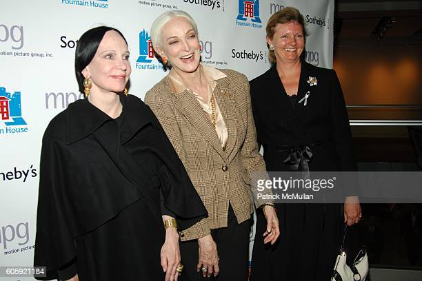 Mary McFadden Carmen Dell'Orefice and Annette Goelet attend Sotheby's hosts FRANCESCO SCAVULLO A Photographic Retrospective and Auction to benefit...