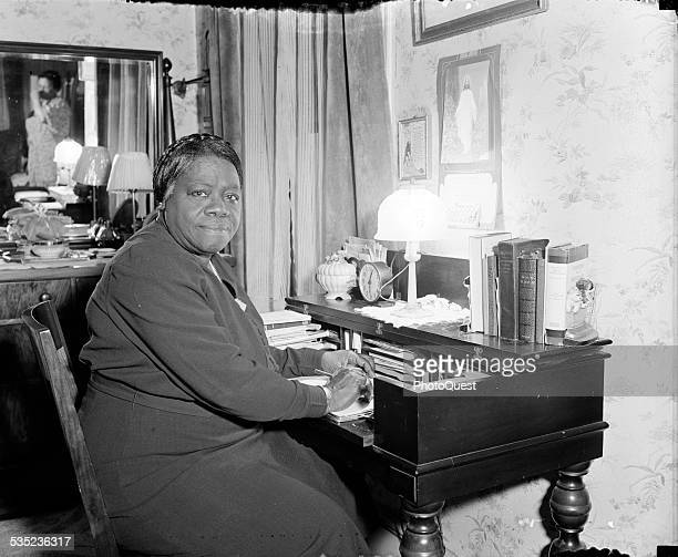 Mary McLeod Bethune noted AfricanAmerican educator and founder of BethuneCookman College in Daytona Florida 1938