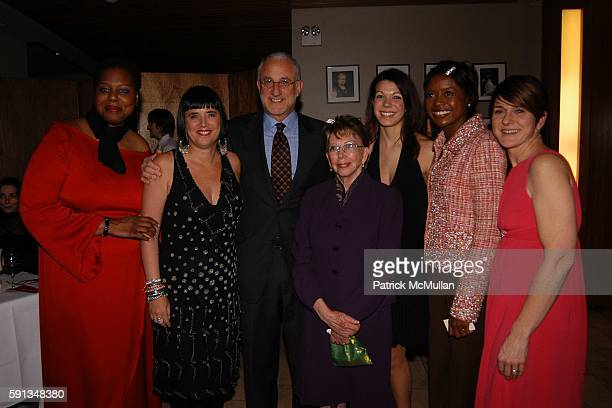 Mary Morten Eve Ensler Howard Socol Esther Chavez Cano Jade Guanchez Mellody Hobson and Jerri Lynn Fields attend VDay NYC 2005 annual fundraiser at...