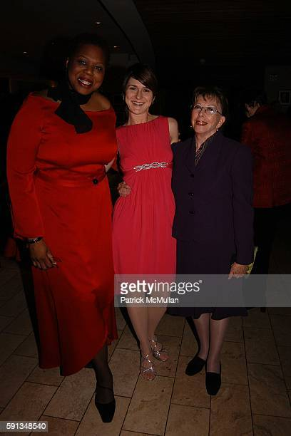 Mary Morten Jerri Lynn Fields and Esther Chavez Cano attend VDay NYC 2005 annual fundraiser at Barneys flagship store on February 1 2005 in New York...