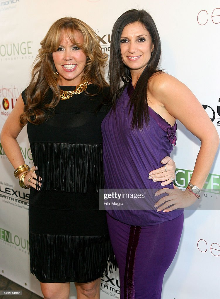 Mary Murphy and TV Host & founder/CEO of Green Lounge Eco Nicole Sherwin arrive at Green Lounge Eco Luxury Experience Earth Day Awards Presented By Lexus Santa Monica on April 22, 2010 in Santa Monica, California.