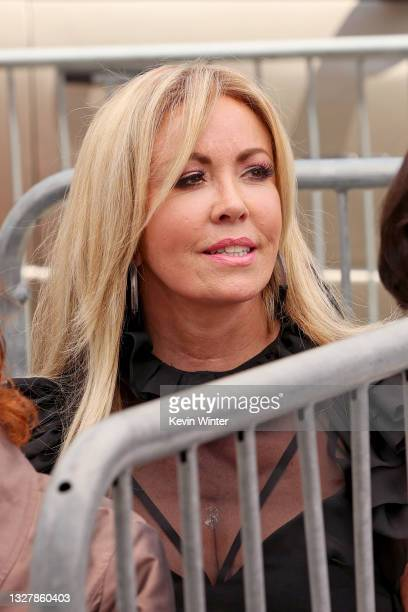 Mary Murphy attends a ceremony honoring Television Producer Nigel Lythgoe with a star on the Hollywood Walk Of Fame on July 09, 2021 in Hollywood,...