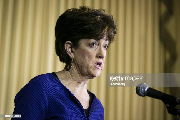 Mary Neumayr, chairman of the Council on Environmental Quality , speaks at Environmental Protection Agency headquarters in Washington, D.C., U.S., on...