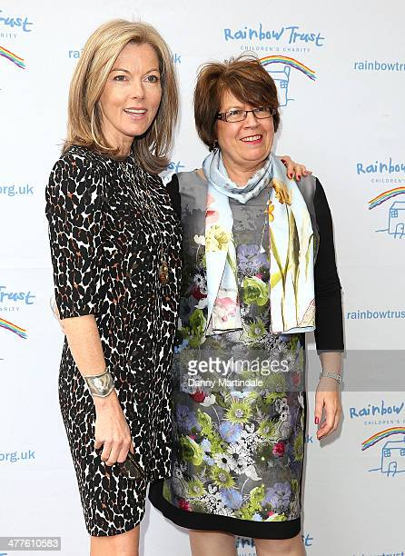 Mary Nightingale and CEO Heather Wood attend the Trust In Fashion Fundraiser in aid of The Rainbow Trust at The Savoy Hotel on March 10 2014 in...