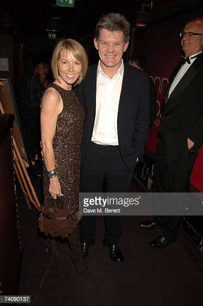 Mary Nightingale and guest attend a concert by American singing legend Tony Bennett in aid of The Old Vic theatre on May 6 2007 at London's jazz...