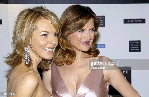 Mary Nightingale and Katie Derham during The Tio Pepe/ITV London Restaurant Awards 2005 in London Great Britain