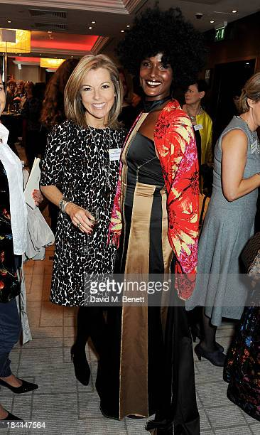 Mary Nightingale and Waris Dirie attend the 58th Women of the Year lunch at the InterContinental Park Lane Hotel on October 14 2013 in London England