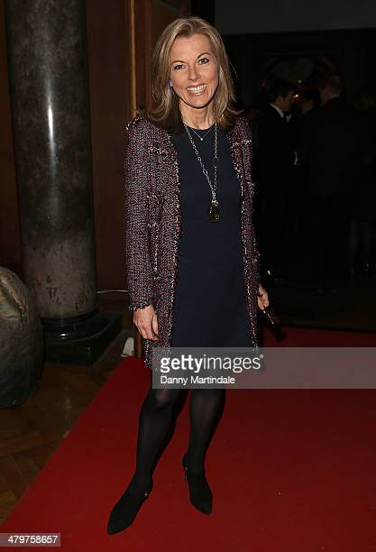 Mary Nightingale attends the annual Ultimate News Quiz at the London Film Museum on March 20 2014 in London England