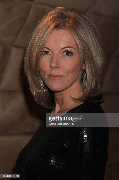 Mary Nightingale from ITV News attends a champagne reception ahead of Betfair's 'Newsroom's Got Talent' which raises funds for three charities...