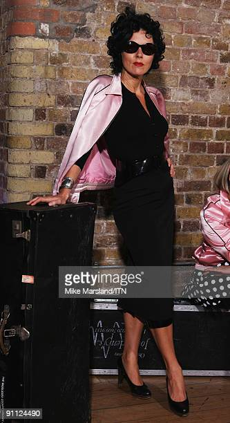 Mary Nightingale of the ITV news team poses ahead of the performance at the Newsroom�s Got Talent event held in aid of Leonard Cheshire Disability...