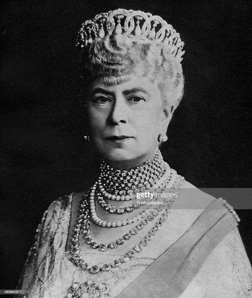 Mary of Teck, Queen Consort of George V of the United Kingdom, c1936. : News Photo