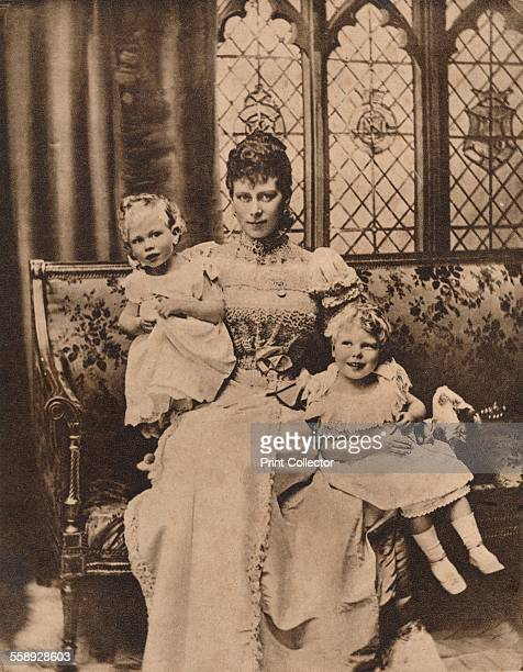 Mary of Teck, The Duchess of York with her two sons, Princes Edward and Albert, c1897 . From The Royal Jubilee Book 1910-1935 [Associated Newspapers...