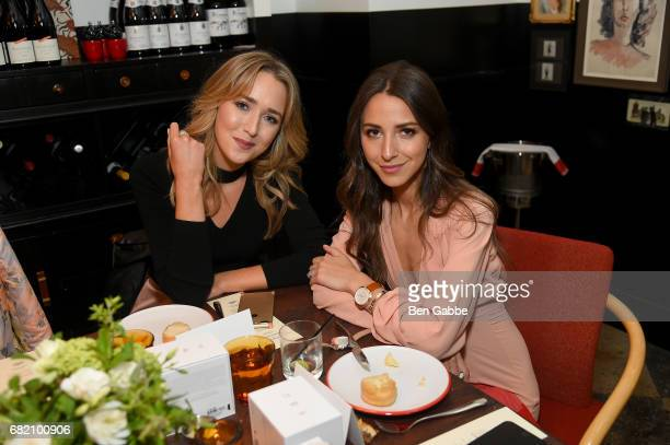 Mary Orton and Something Navy Blogger Arielle Charnas attend the Fossil Firsts Dinner Hosted By Something Navy at 33 Greenwich on May 11 2017 in New...
