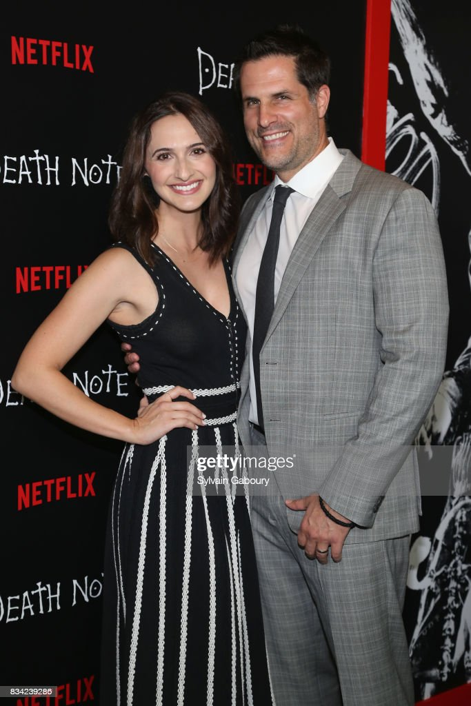 Mary Parlapanides and Vlas Parlapanides attend 'Death Note' New York Premiere at AMC Loews Lincoln Square 13 theater on August 17, 2017 in New York City.