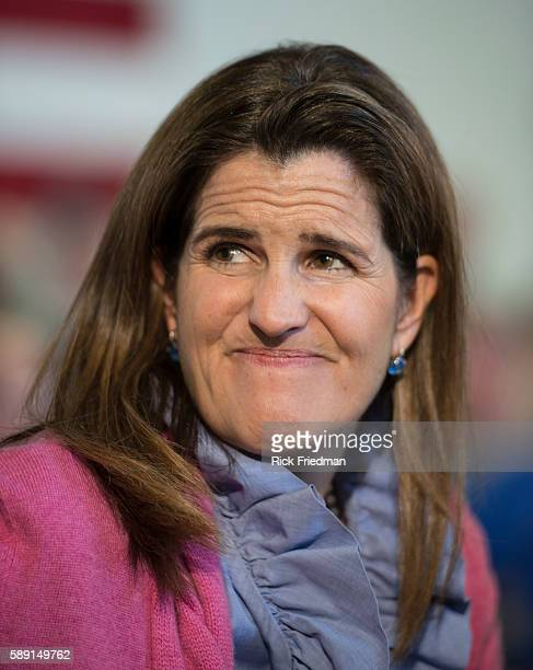 Mary Pat Christie wife of New Jersey Governor Chris Christie at a town hall meeting at the Londonderry Lions Club in Londonderry NH on April 15 2015...