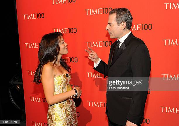 Mary Pfaff Stengel and Time managing Editor Richard Stengel attends the TIME 100 Gala TIME'S 100 Most Influential People In The World at Frederick P...