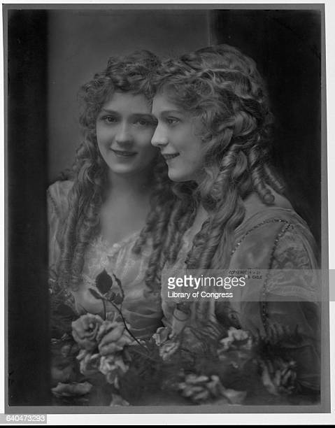 Mary Pickford Looking in Mirror