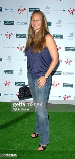 Mary Pierce during PreWimbledon Party Arrivals at Kensington Roof Gardens in London Great Britain