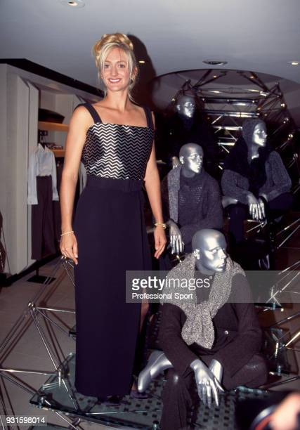 Mary Pierce of France poses at the 18th Annual Women's Tennis Association Awards Banquet on August 29 1994 at the Bergdorf Goodman Parker Meridian...