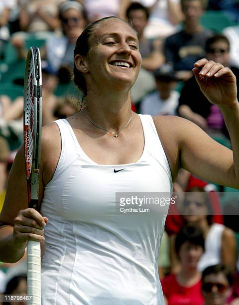 Mary Pierce upsets 14th seed Eleni Daniilidou 64 61