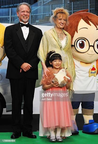 Mary Pope Osborne , original author of 'Magic Tree House', her husband Will Osborne , and actress Mana Ashida attend the 24th Tokyo International...