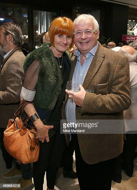 Mary Portas and Christopher Biggins attend The Prince Princess Of Wales Hospice charity event at Watches of Switzerland on September 23 2015 in...