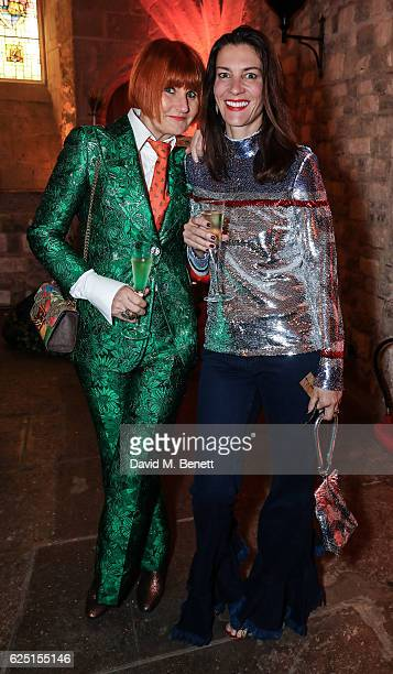 Mary Portas and Melanie Rickey attend the Save The Children Winter Gala at The Guildhall on November 22 2016 in London England