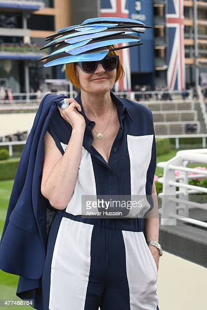 Mary Portas attends day 2 of Royal Ascot on June 17 2015 in Ascot England