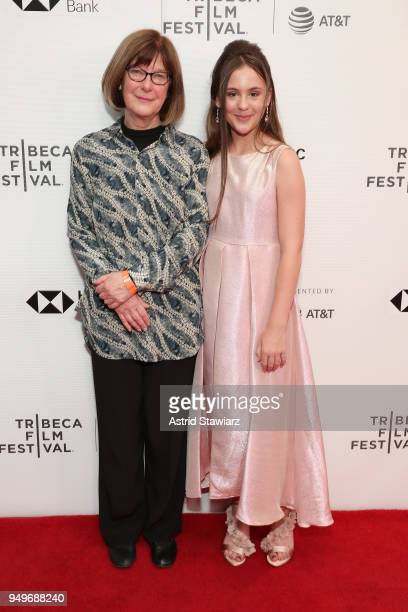 """Mary Power and Ashlyn Jade Lopez attend the screening of """"The Serengeti Rules"""" during the 2018 Tribeca Film Festival at Cinepolis Chelsea on April..."""