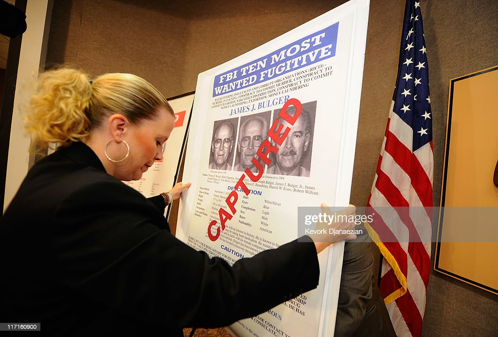 FBI Discusses Arrest Of Whitey Bulger In Los Angeles : News Photo