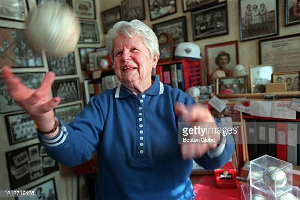 Mary Pratt in her home in Quincy MA on Feb 28 2001 She is a former baseball pitcher who says 1944 was her good year because she won 21 games
