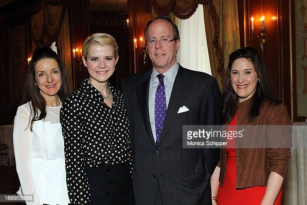 Mary Pulido Elizabeth Smart David Stack and Elizabeth Mayhew attend The New York Society For The Prevention Of Cruelty To Children's 2013 Spring...
