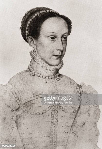Mary Queen of Scots 1542 – 1587 aka Mary Stuart or Mary I of Scotland Queen of Scotland and Queen consort of France After a drawing attributed to...