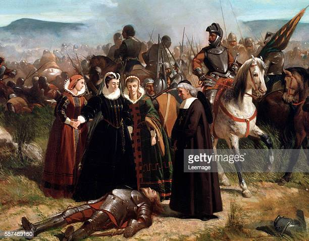 Mary Queen of scots at the Battle of Langside fought on 13 May 1568 Detail of painting by Giovanni Fattori 18581859 Galleria d'Arte Moderna Florence