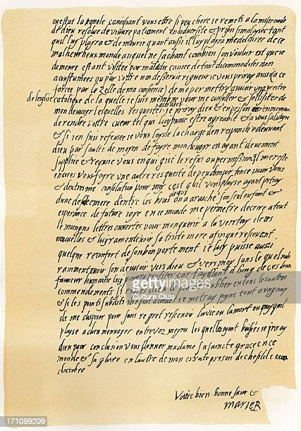 Mary Queen of Scots - manuscript letter to Queen Elizabeth, asking for permission to speak to a Catholic priest and to her son. Dated 29 October...