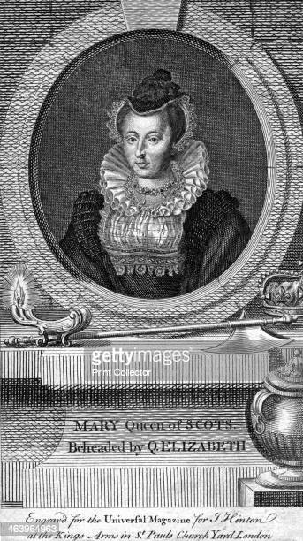 Mary Queen of Scots The Catholic Mary I of Scotland was executed by order of Elizabeth I Engraved for the Universal Magazine