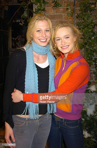 Mary Rambin and Leven Rambin during 'All My Children' 35th Anniversary Street Sign Dedication at ABC Studios in New York City New York United States