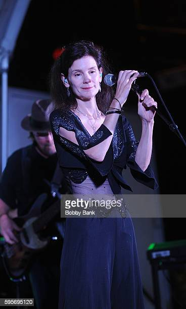 Mary Ramsey of 10000 Maniacs perform 10000 Manics The Smithereens In Concert at Union County Performing Arts Center on August 25 2016 in Rahway New...