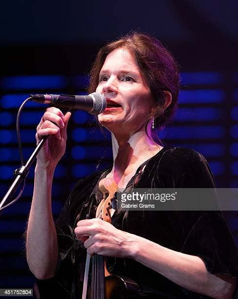 Mary Ramsey of 10000 Maniacs performs at RiverEdge Park on July 5 2014 in Aurora Illinois