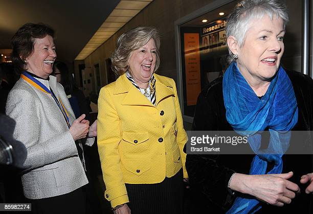 Mary Robinson Linda Fairstein and Lynn Redgrave attends the 2009 John Jay Justice Awards at John Jay College on April 14 2009 in New York City