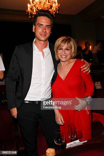 Mary Roos and her son Julian Boehm attend the 'Nacht der Legenden' at Schmidts Tivoli on September 04 2016 in Hamburg Germany