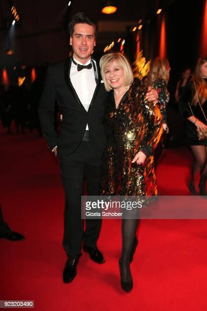 Mary Roos and her son Julian Boehm during the Goldene Kamera reception on February 22 2018 at the Messe Hamburg in Hamburg Germany