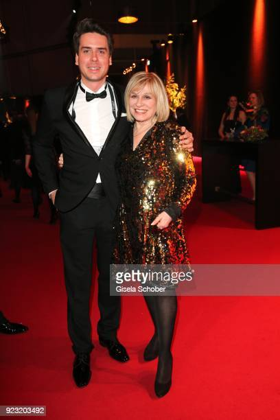 Mary Roos and her son Julian Boehm during the Goldene Kamera reception on February 22, 2018 at the Messe Hamburg in Hamburg, Germany.