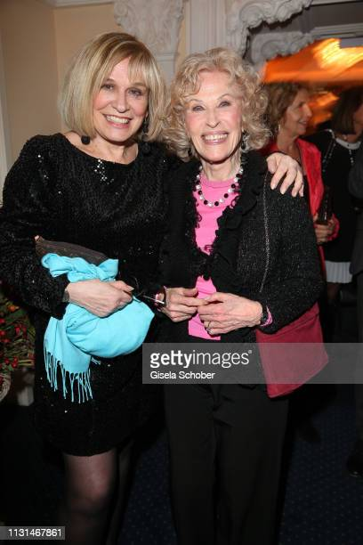 Mary Roos Bibi Johns during the celebration of Peter Kraus' 80th birthday at Schuhbecks Suedtiroler Stuben on March 18 2019 in Munich Germany