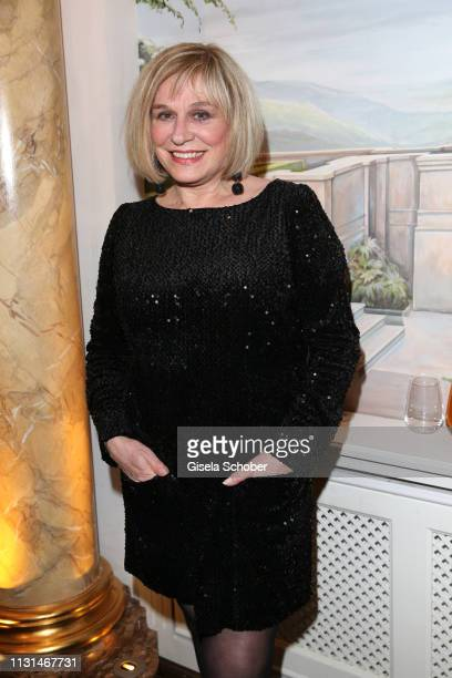 Mary Roos during the celebration of Peter Kraus' 80th birthday at Schuhbecks Suedtiroler Stuben on March 18 2019 in Munich Germany