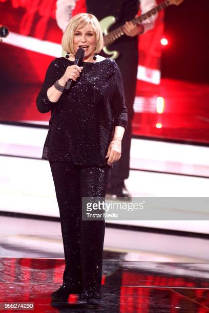 Mary Roos during the tv show 'Willkommen bei Carmen Nebel' at SachsenArena on May 5 2018 in Riesa Germany