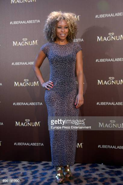 Mary Ruiz attends the Magnum new campaign presentation party at the Palacete de Fortuny on June 14 2017 in Madrid Spain