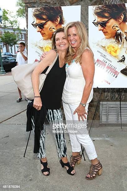 Mary Savello and Jane Hanson attend the Mission Impossible Rogue Nation Special Screening Hosted By Alec Baldwin Arrivals at United Artists East...